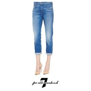 7 for All Mankind Crop Straight Leg Jeans